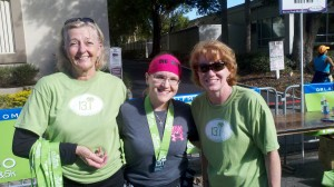 With two of my running group friends last year at the OUC Half Marathon.