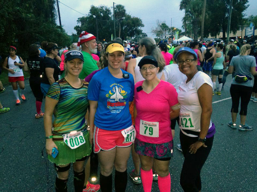 Before the start with Jenn, Kerrie and Stacy.