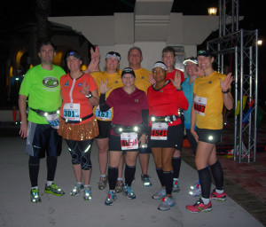 Galloway runners at Space Coast before the race start.