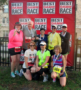 With some of my fellow Galloway friends after the race.
