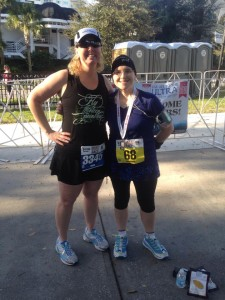 With fellow runner friend, Laura.