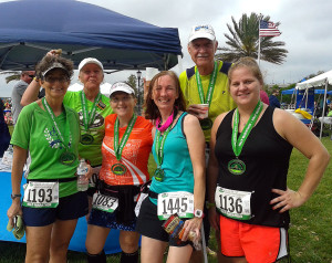 Post-race with some of my running group.