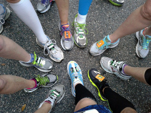 Shoe shot before the race start.