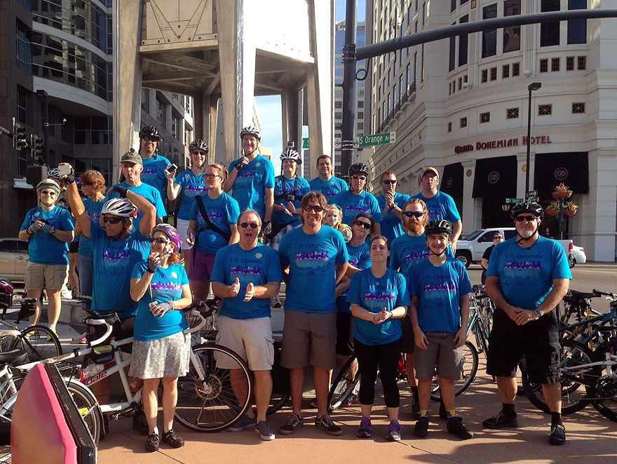 Retro City/Cycling Savvy group in downtown post-ride.