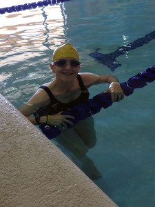 In the pool on Saturday!