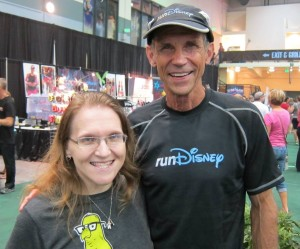 With Jeff last year at one of the runDisney race expos.