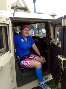 Wearing my Liberty tee with a Gym Girl Ultra skirt at the Wounded Warrior 10k.
