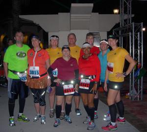 Orlando Galloway Trekkers at the Space Coast Marathon.