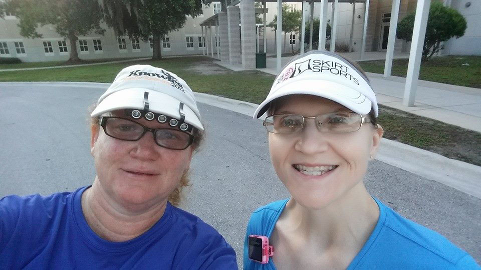 Connie and I after finishing our Sunday run.