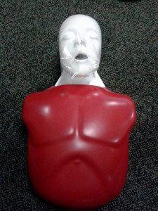 My dummy buddy during CPR certification.
