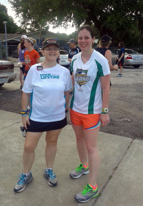 With Kerrie on National Running Day.