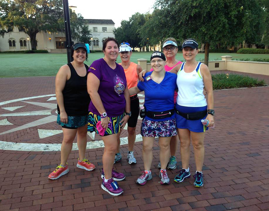 The group during our Saturday run in Winter Park.