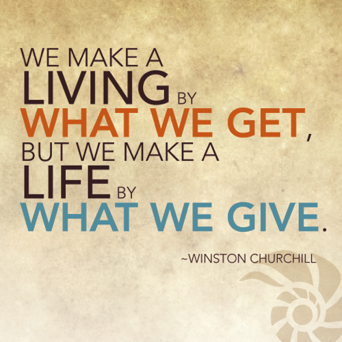 Quotes On Giving Back: Giving Back