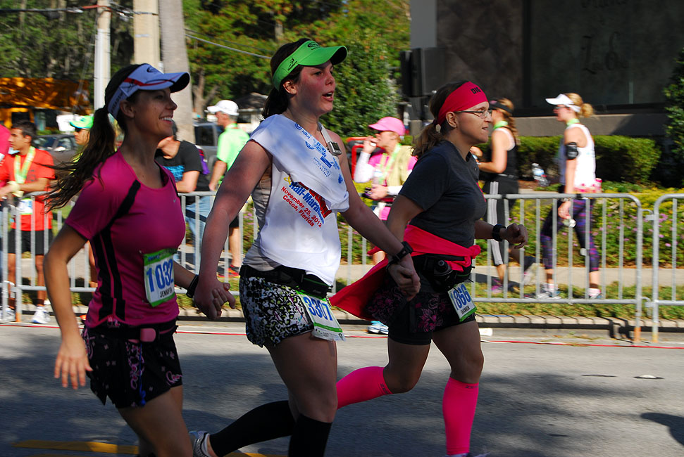 Finishing the 2012 OUC Orlando Half with Kerrie and Jennifer.