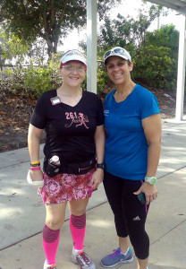 With Arody after running 23 miles.