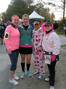 Before the race with some of my fellow Ambassadors.
