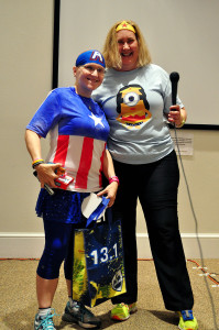 Getting the Inspector Gadget award from our Program Director, Laura.