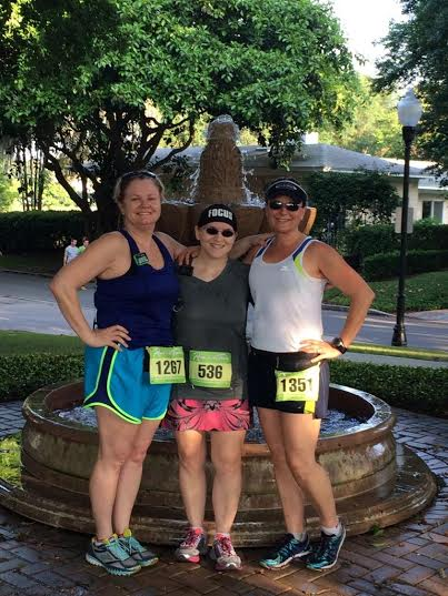 With friends Lisa and Meg after the 5k.