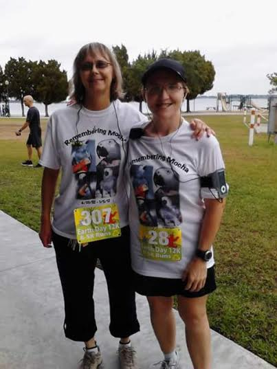 Mom and I at the Earth Day 12k/5k race in 2012.