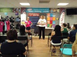 Training program directors Susan and Laura speak at the info session.