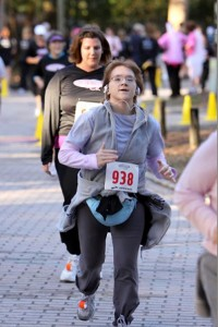 Running it in during my first 5k in 2011. Look at what I'm wearing!  :)