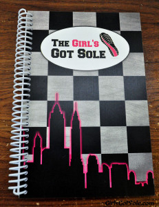 Front cover of my custom marathon journal.