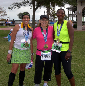After finishing my first 13.1 with Kitzzy & Yolanda.