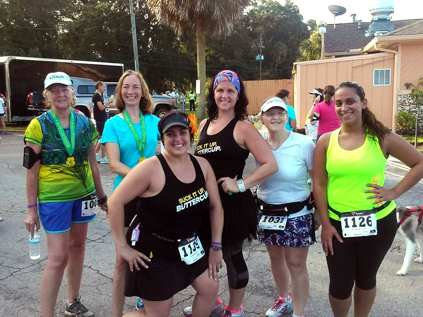 Some of my running group at the race in 2014.