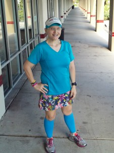 Wearing the Tantrum Gym Girl Ultra last month.