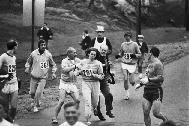 KV Switzer at the 1967 Boston Marathon.