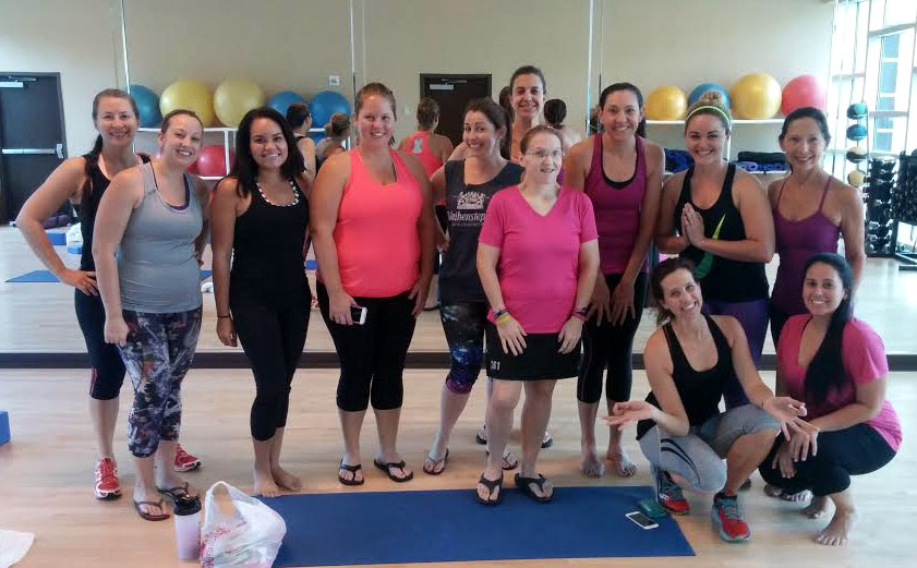Central Florida Lady Bloggers after yoga.