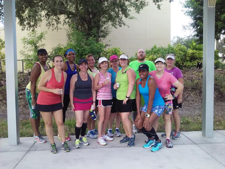 Some of my Dream Chasers group after a Saturday morning run.