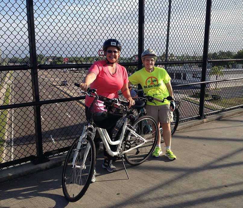 From a previous Sunday morning biking adventure with friend, Terrie.