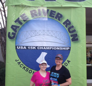 Gate River Run with Terrie.