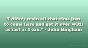 6+ hour marathoner - love John Bingham