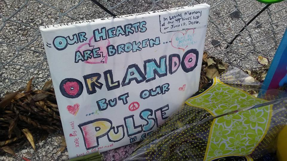 Pulse memorial sign