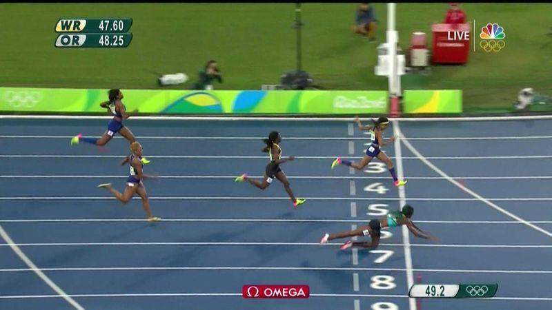 400 meter finish