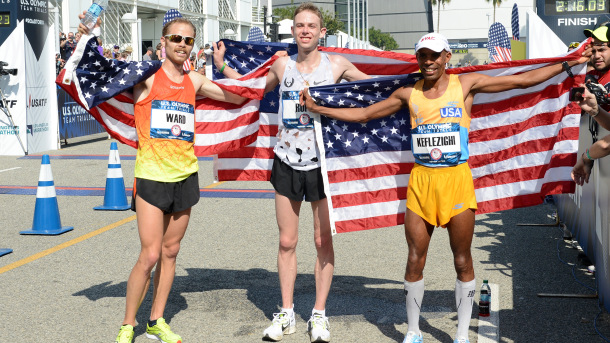 Jared, Galen and Meb at the 2016 Olympic Trials.