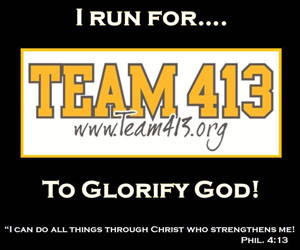 I run for Team 413