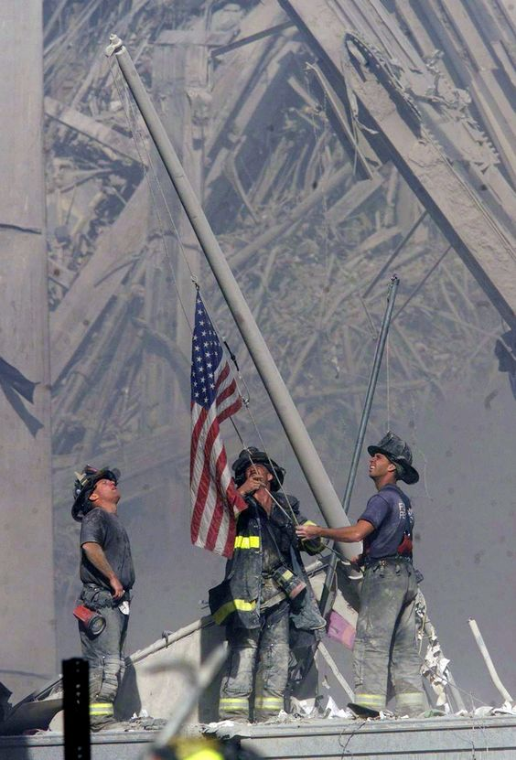 Firefighters American Flag 9/11/01