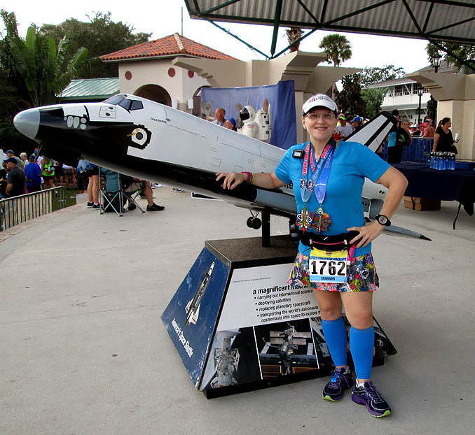 The Girl's Got Sole - 2015 Space Coast post-race pic