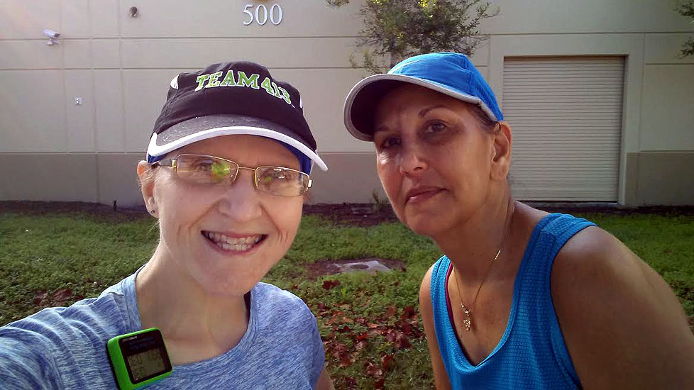 The Girl's Got Sole - Susie & Shannon post-run