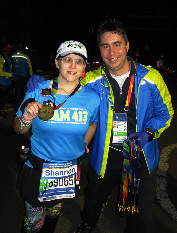 The Girl's Got Sole - NYC Marathon medal in 2015