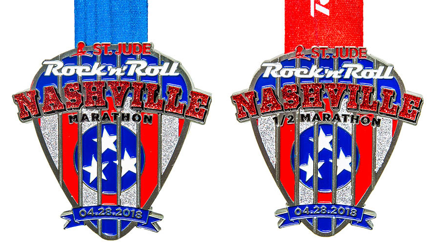 The Girl's Got Sole - RNR Nashville Marathon & Half Marathon medals