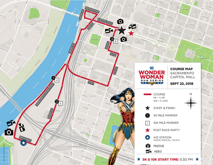 The Girl's Got Sole - Wonder Woman Sacramento Run Series Route