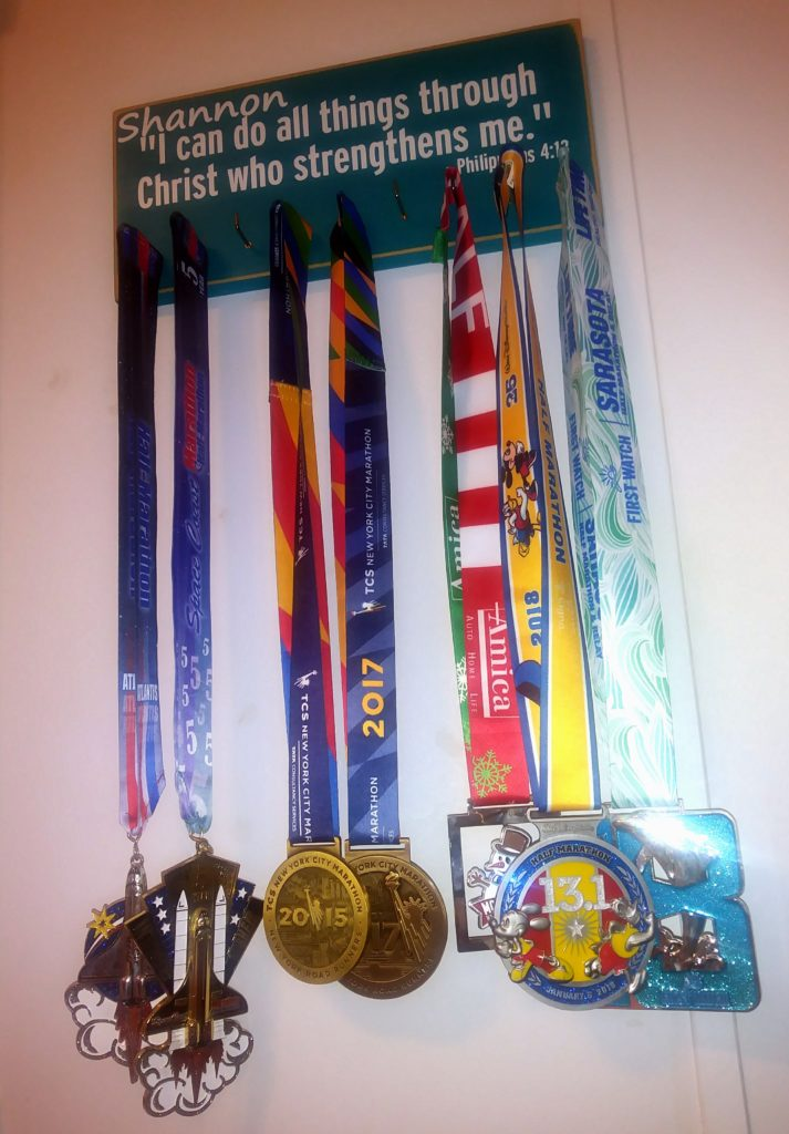 The Girl's Got Sole - Race medals