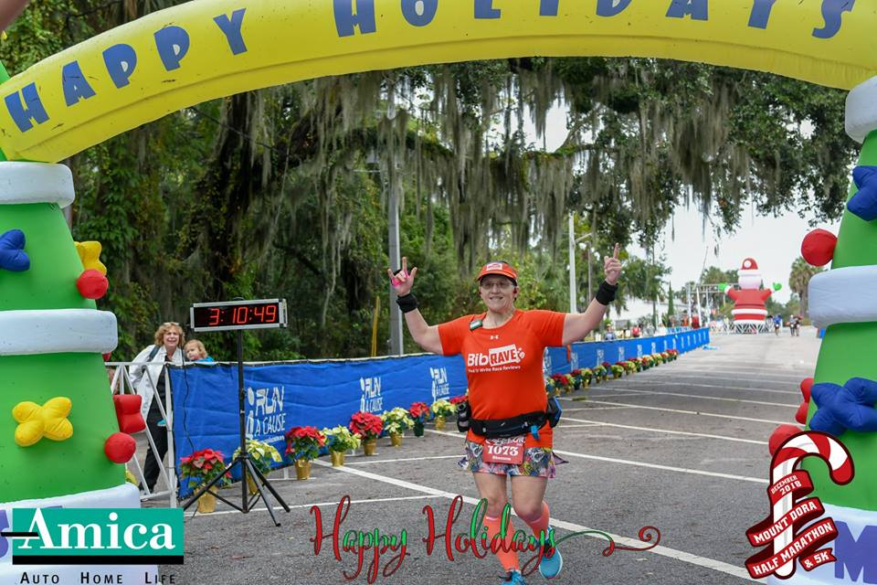 The Girl's Got Sole - Mount Dora Half Marathon finish