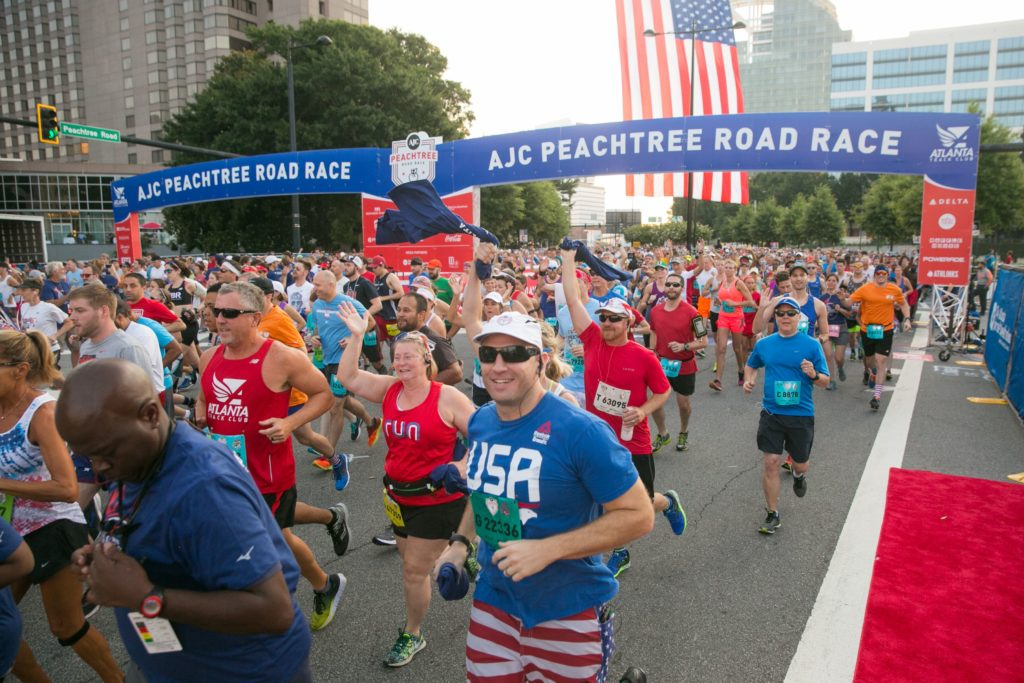 The Girl's Got Sole - 50th Peachtree Road Race