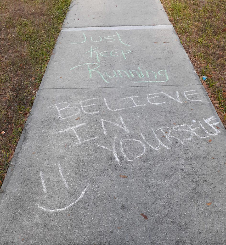 The Girl's Got Sole - Sidewalk chalk messages