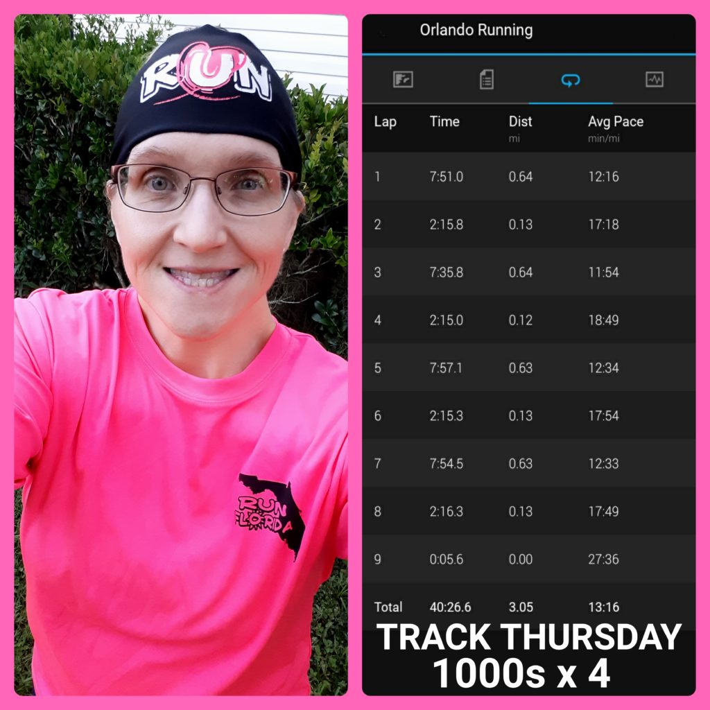 The Girl's Got Sole - Thursday Track workout